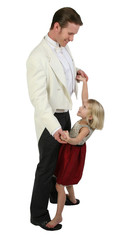 Father and daughter dancing in formals