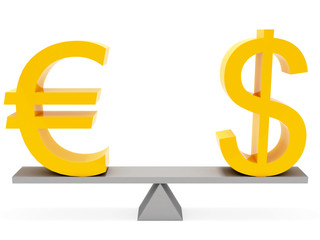 equilibrium euro and dollar