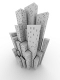 Conceptual city (image can be used for printing or web) poster