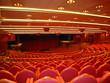 Auditorium interior in red colors