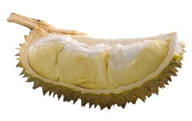 Sliced Durian Isolated