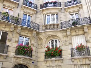 Immeubles en pierre en creux, Paris