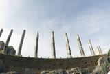 rome italy ancient ruins columns roman forum poster