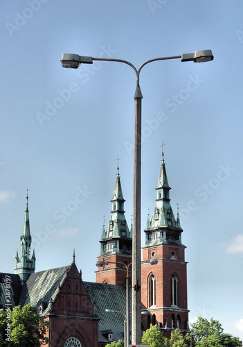 church and lamp
