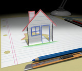 Buying House. Sketch your ideas and plans.