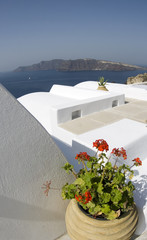 santorini classic greek island architecture over the sea