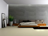 Fototapety Interior of modern bedroom 3D rendering