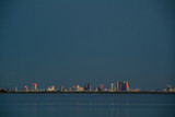 Atlantic City Skyline at dusk from the saltwater marshes poster