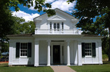 Greek revival style house. Greenfield Village, Michigan, USA poster