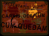 Latin text Grunge 2 poster