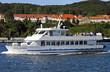 Leinwanddruck Bild - Rügen, Sassnitz, Hafen, Schiffe