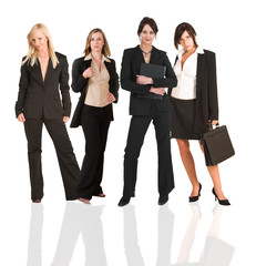 A group of young modern businesswoman