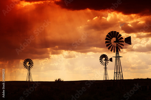 Brewing thunderstorm in the dessert area of the Karoo