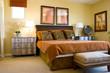 Modern tastefully decorated master bedroom