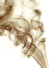 brown rays smoke abstract in white background