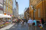 Main street of Ljubljana city,  slovenia, europe