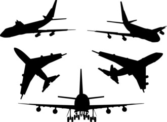 Silhouttes of planes