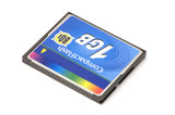 series object on white - Compact Flash memory card poster