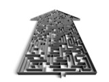 Fototapety direction maze