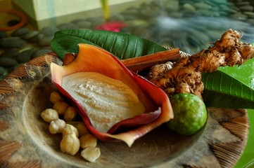 Items at a balinese spa