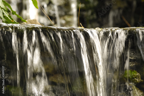 Small waterfall. Note the water is in motion blur.