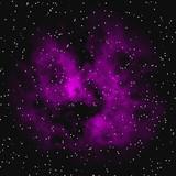 Distant nebula seen via telescope poster
