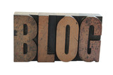 the word 'blog' in old wood letters