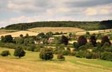 Summer Sunshine over an English Rural Landscape poster