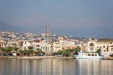 A photo of a port in Rethymno, Crete poster