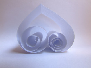 spiral heart of paper