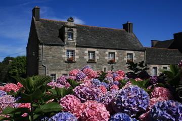 Maison bretonne à Saint-Thégonnec (Bretagne)