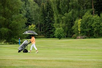 Golf - rain