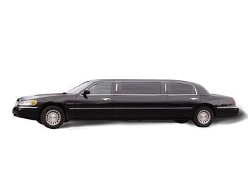 Big black limousine