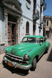Picture of a old car in Cuba. Havana poster