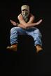 jumping up krump style dancer
