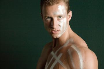 Man in body paint
