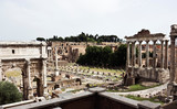 The ruins of the Roman forum poster