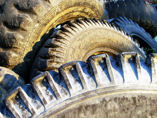 old rubber tyres