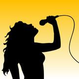 Female singer poster