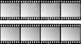 Film strips - one with grunge effect added poster