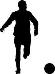 Sport silhouette - Soccer player