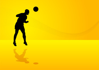 Background soccer player