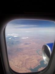 Flugzeugfenster Nordamerika