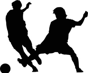 Sport silhouette - Soccer players