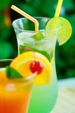 Summer alcoholic recreational drink with  poster