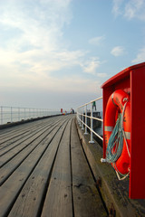 Whitby pier and lifesaver