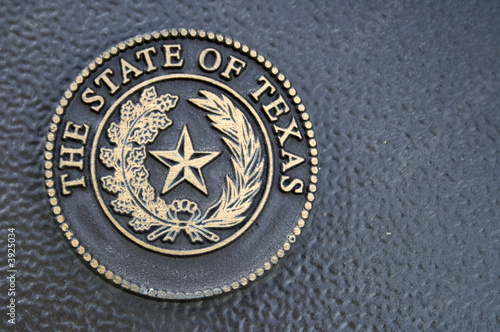 Deurstickers Texas Texas Seal