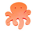 series object on white - water toy - octopus poster
