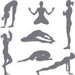 yoga postures silhouettes