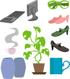 assortment of lifestyle objects poster